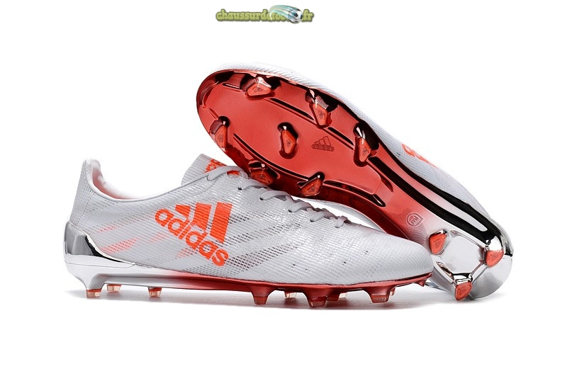 Chaussure Adidas Adizero 99Gram Limited Edition FG Blanc Orange