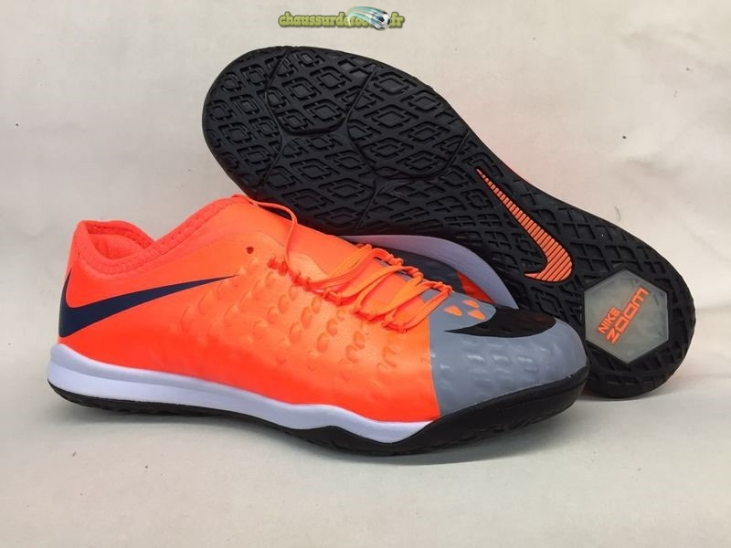 Chaussure Nike HypervenomX Finale II IC Orange Gris