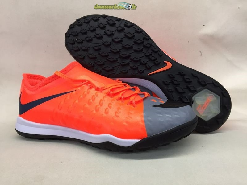 Chaussure Nike HypervenomX Finale II TF Orange Gris