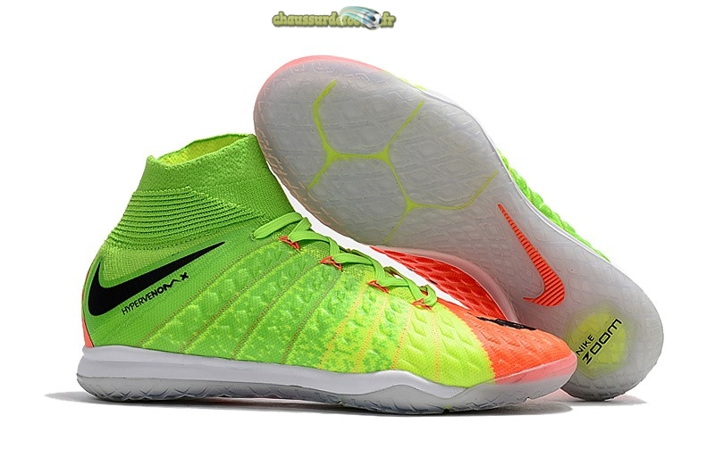 Chaussure Nike HypervenomX Proximo II DF IC Orange Vert