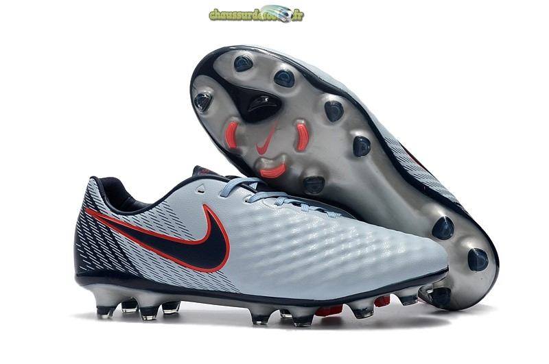 Chaussure Nike Magista Opus II FG Rouge Gris