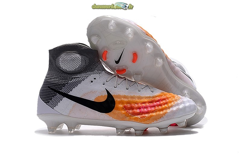 Chaussure Nike Magista obra II FG Blanc Orange