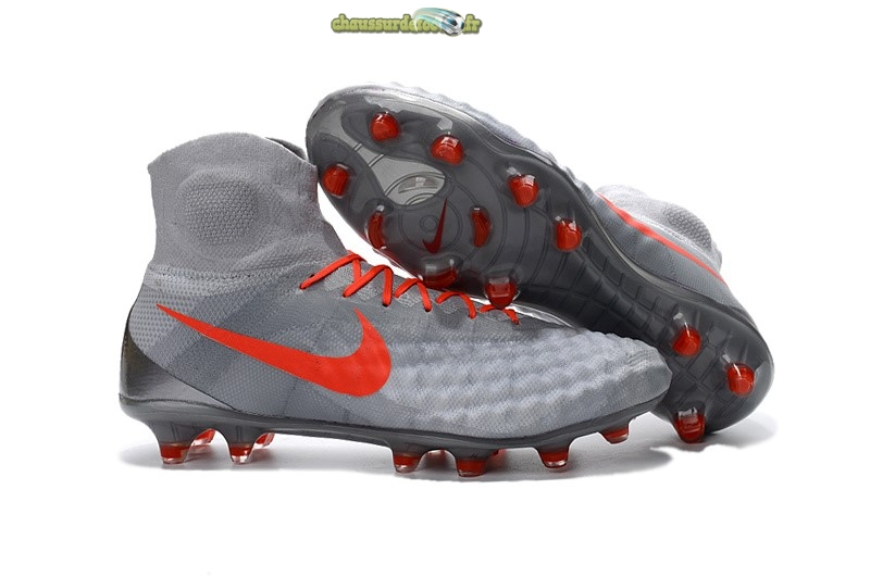 Chaussure Nike Magista obra II FG Orange Gris