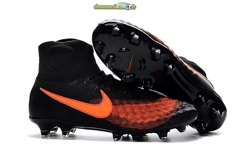 Chaussure Nike Magista obra II FG Orange Noir