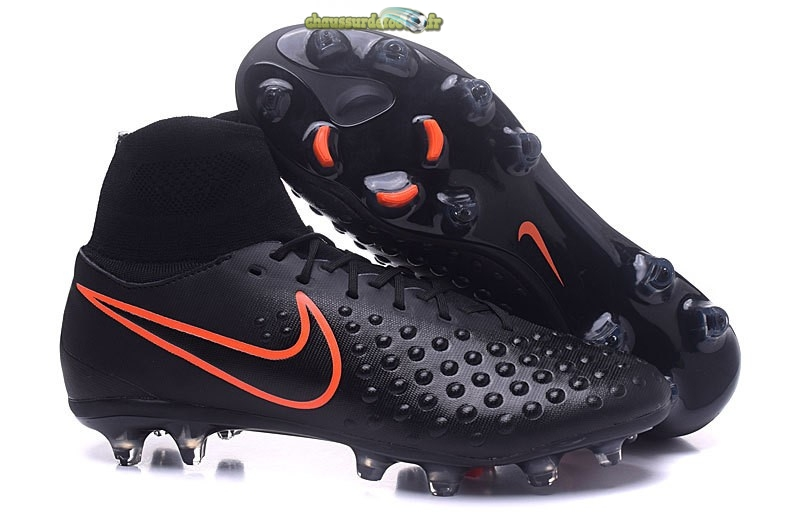 Chaussure Nike Magista orden II FG Noir Orange