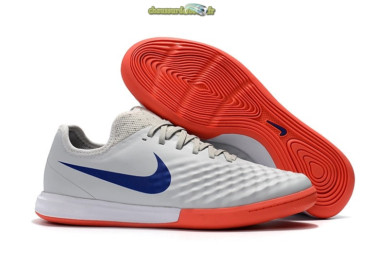 Chaussure Nike MagistaX Finale II IC Orange Bleu Blanc
