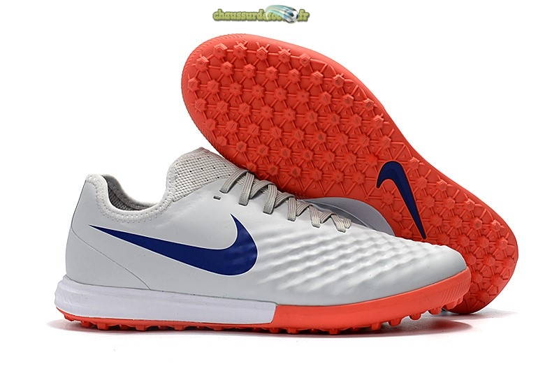 Chaussure Nike MagistaX Finale II TF Bleu Orange Blanc
