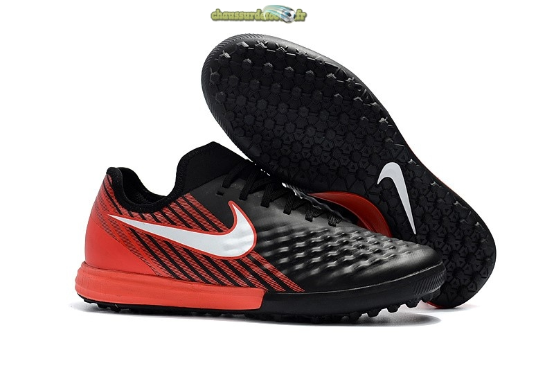 Chaussure Nike MagistaX Finale II TF Noir Rouge