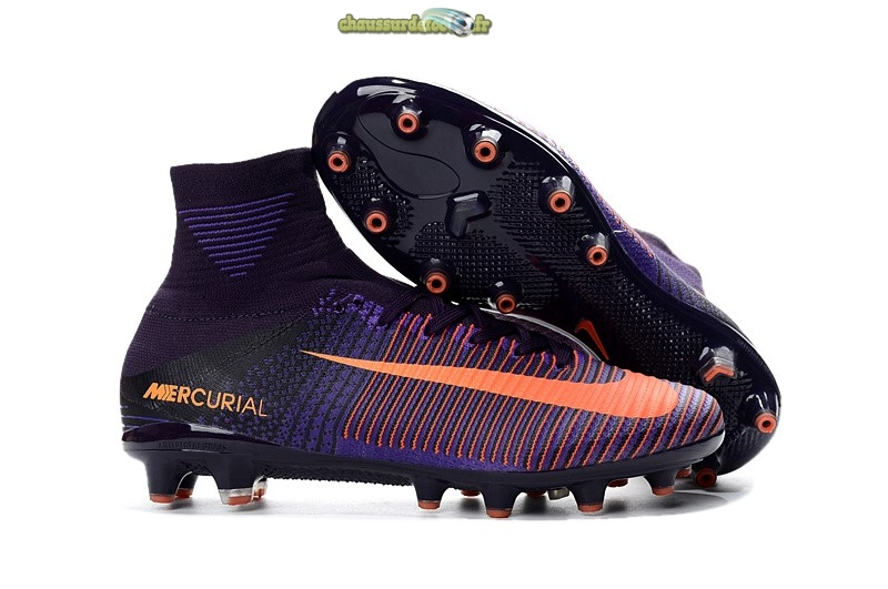Chaussure Nike Mercurial Superfly V AG Orange Pourpre