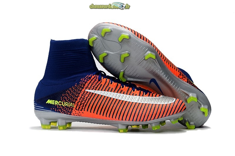 Chaussure Nike Mercurial Superfly V FG Orange Multicolore Foncé