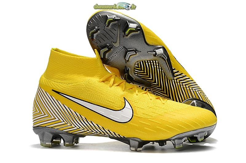 Chaussure Nike Mercurial Superfly VI 360 Elite FG Jaune Lineaire