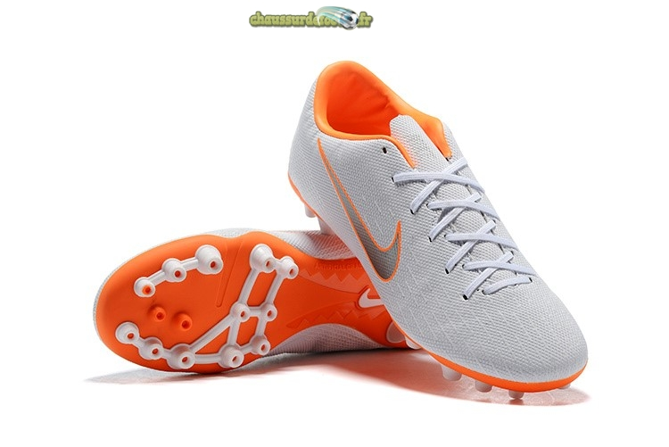 Chaussure Nike Mercurial Vapor XII AG Orange Blanc