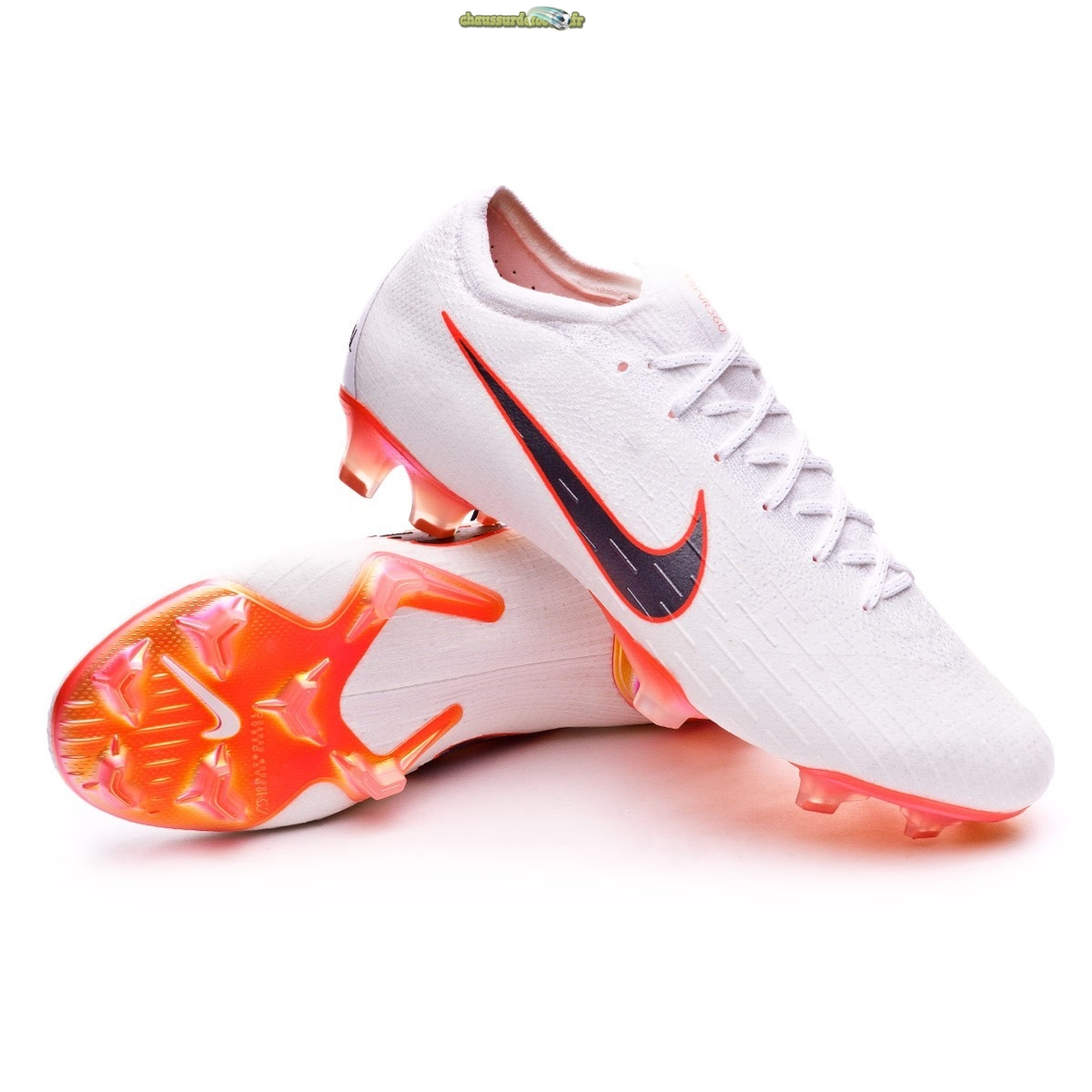 Chaussure Nike Mercurial Vapor XII Elite FG Blanc Orange