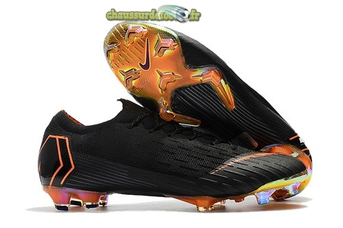 Chaussure Nike Mercurial Vapor XII Elite FG Noir Orange
