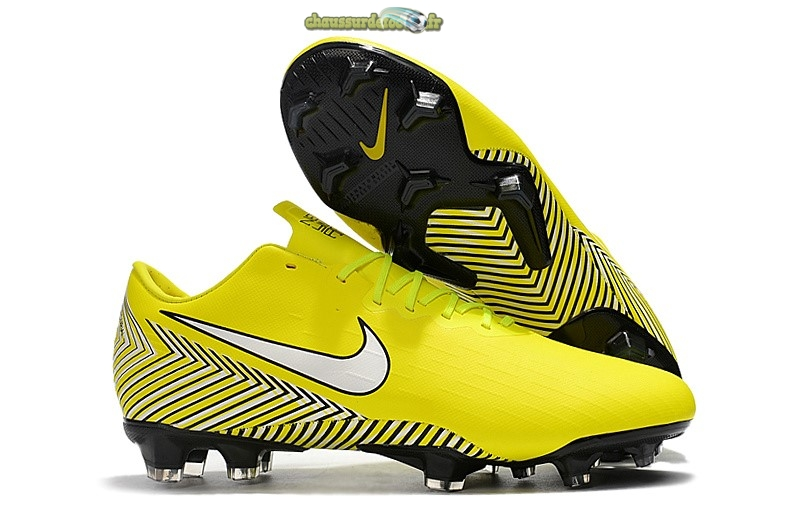 Chaussure Nike Mercurial Vapor XII Pro FG Jaune