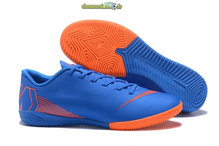 Chaussure Nike Mercurial VaporX 12 Club IC Bleu Orange