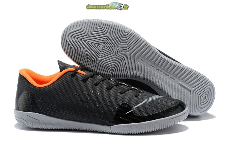 Chaussure Nike Mercurial VaporX 12 Club IC Noir Gris Orange