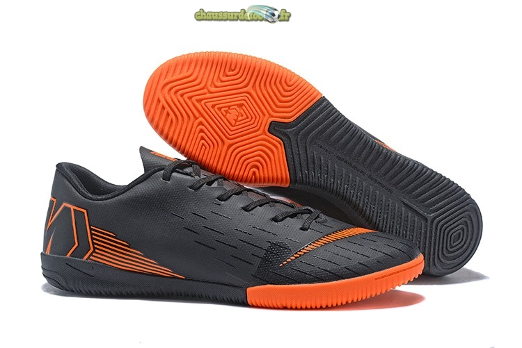 Chaussure Nike Mercurial VaporX 12 Club IC Noir Orange