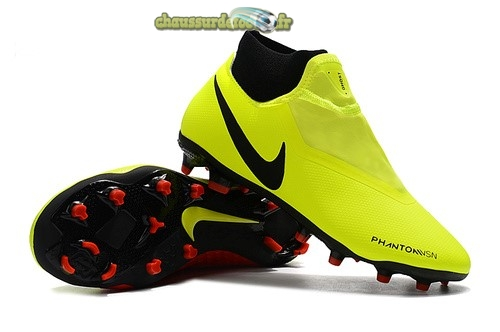 Chaussure Nike Phantom Vision Elite DF FG Jaune Rouge