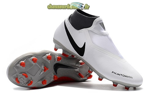 Chaussure Nike Phantom Vision Elite DF FG Rouge Blanc