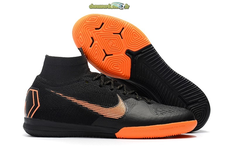 Chaussure Nike SuperflyX 6 Elite IC Noir Orange