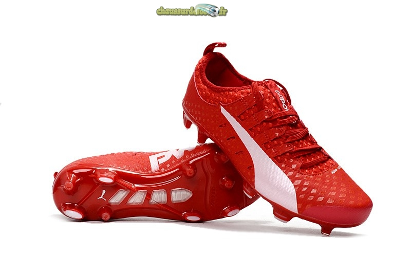 Chaussure Puma evo POWER Vigor 1 CAMO FG Rouge