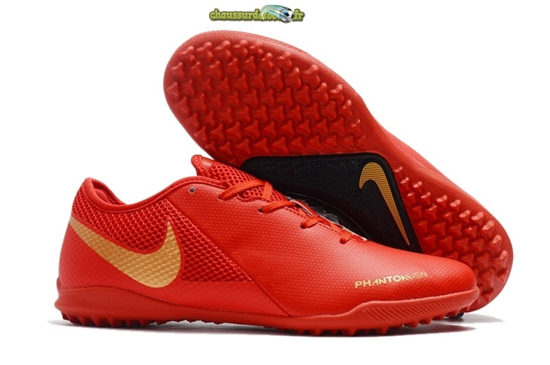 Chaussure Nike Phantom VSN Academy TF Rouge