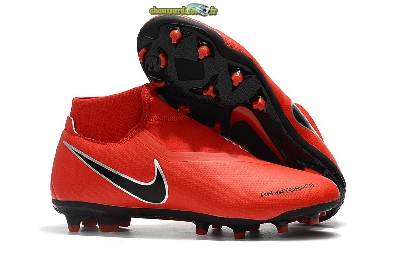 Chaussure Nike Phantom Vision Elite DF FG Rouge