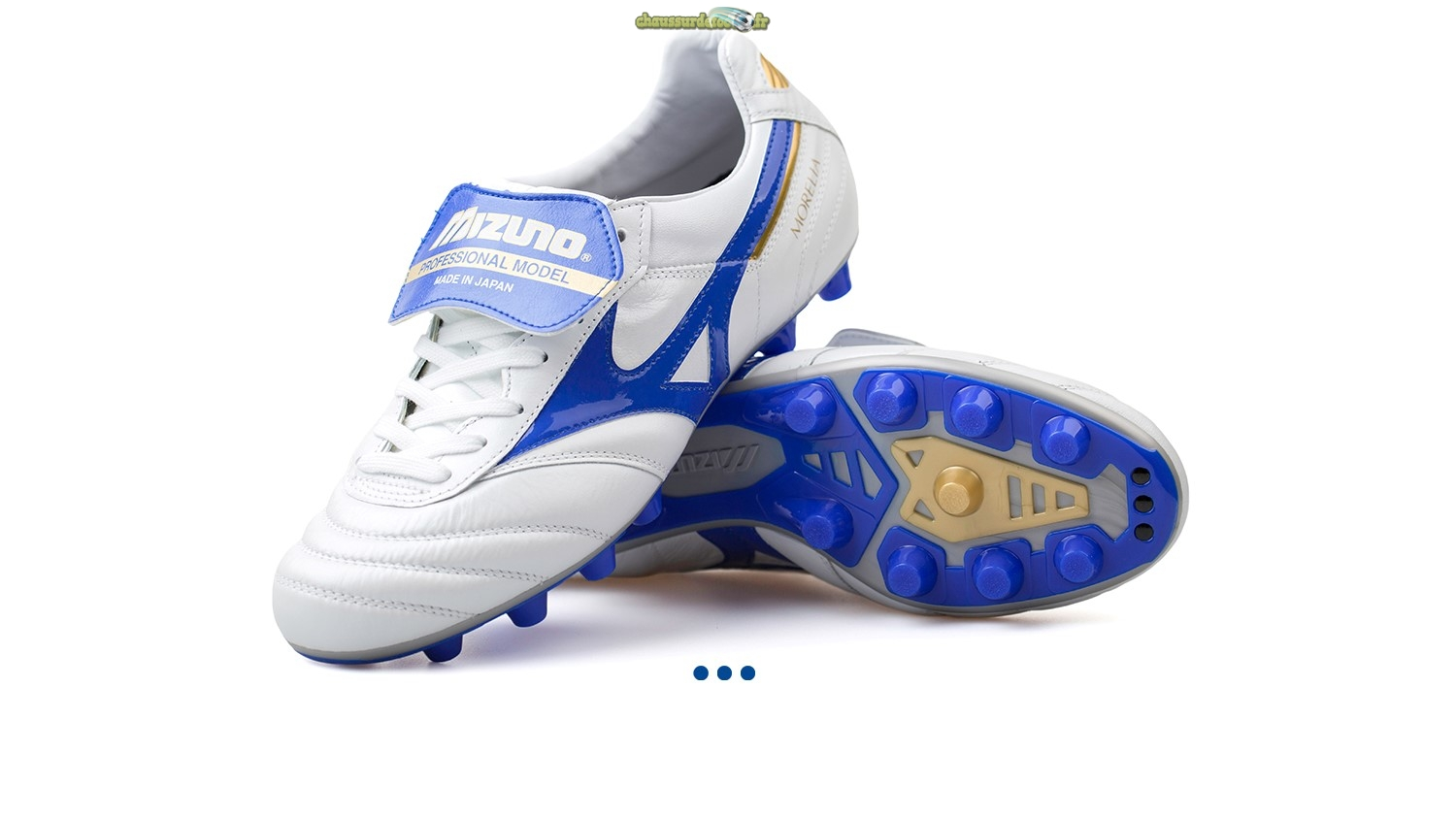 "Chaussure Mizuno Morelia II JAPAN ""Legend Blue"" MD Blanc"