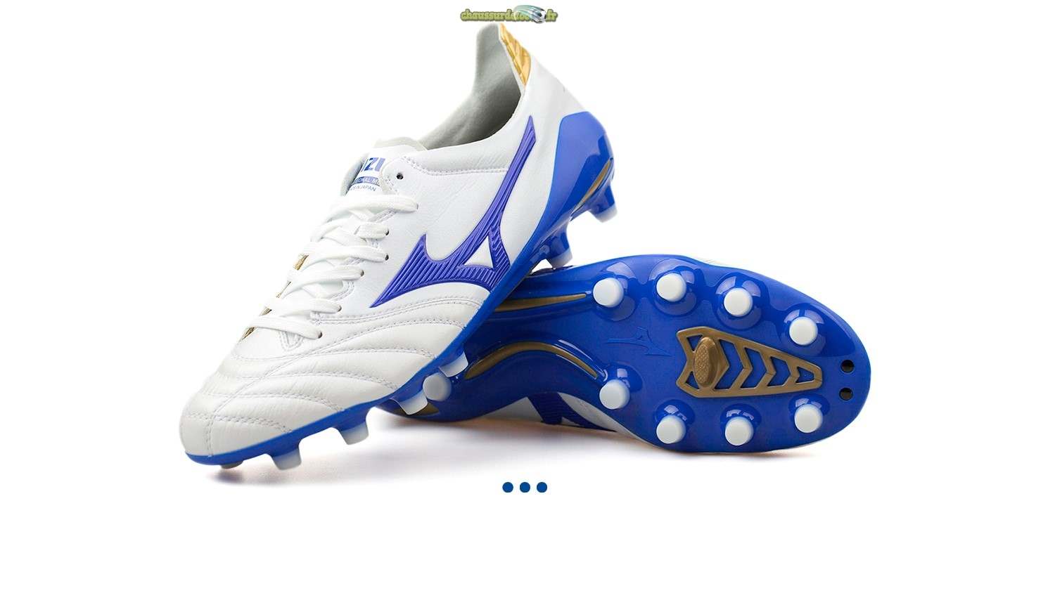 "Chaussure Mizuno Morelia Neo II JAPAN ""Legend Blue"" MD Blanc"