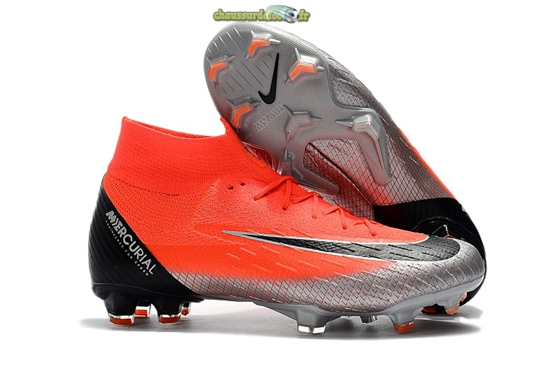 Chaussure Nike Mercurial Superfly VI Elite CR7 FG Rouge