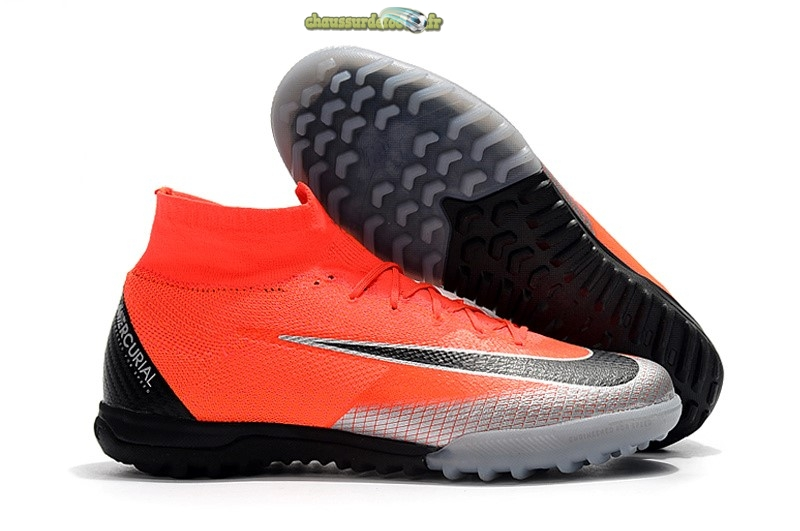 Chaussure Nike Mercurial Superfly VI Elite CR7 TF Orange