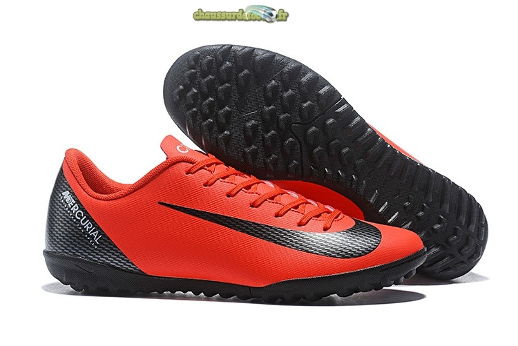 Chaussure Nike Mercurial VaporX 12 Club TF Rouge