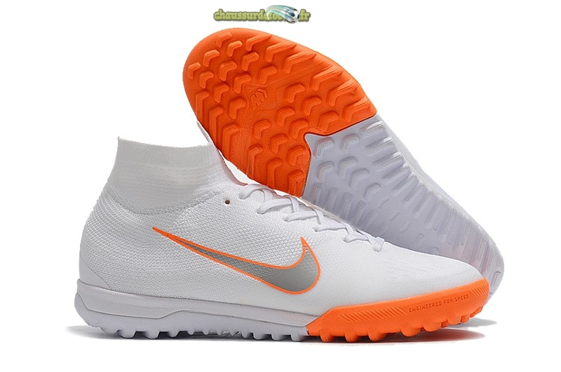 Chaussure Nike SuperflyX 6 Elite TF Blanc Orange