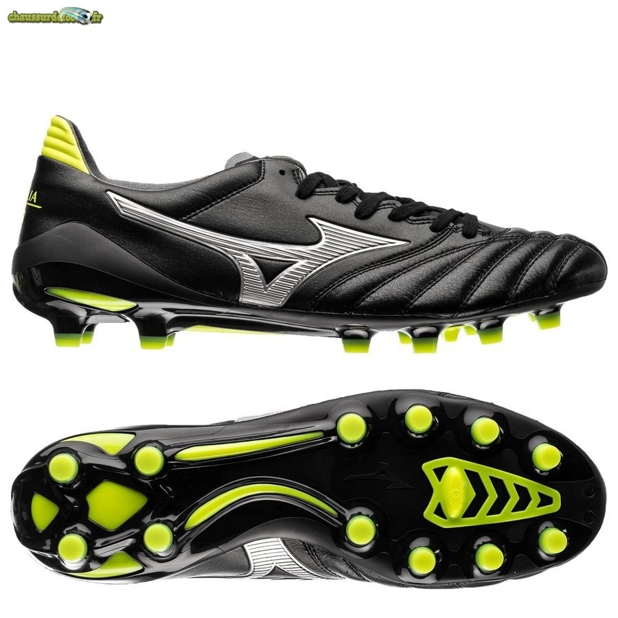Chaussure Mizuno Morelia Neo II Made in Japan FG Black Star Noir Jaune
