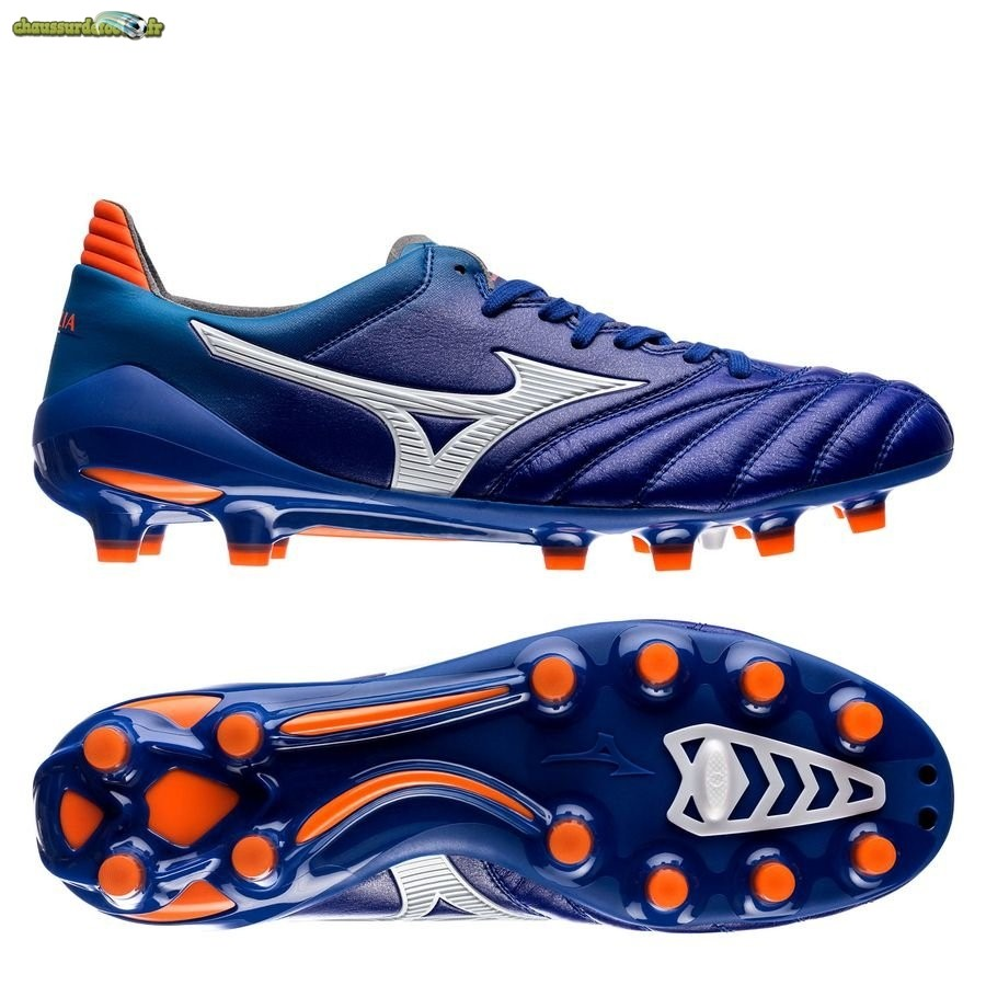 Chaussure Mizuno Morelia Neo II Made in Japan FG Bleu Orange