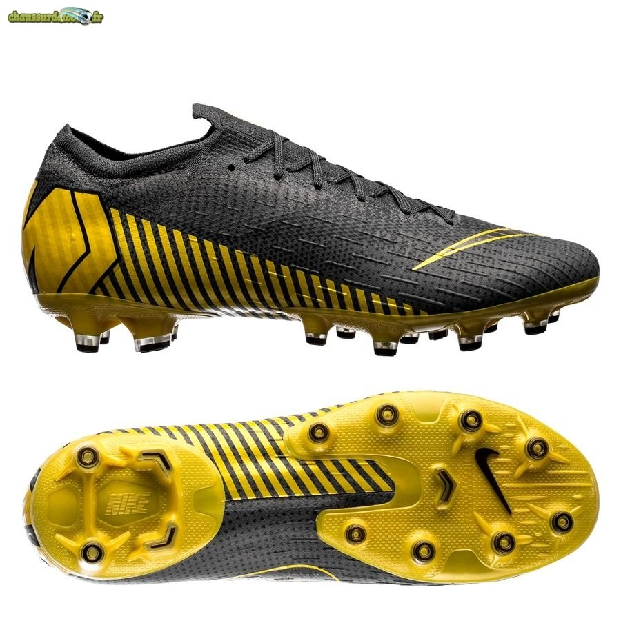 Chaussure Nike Mercurial Vapor XII Elite AG PRO Game Over Noir Jaune