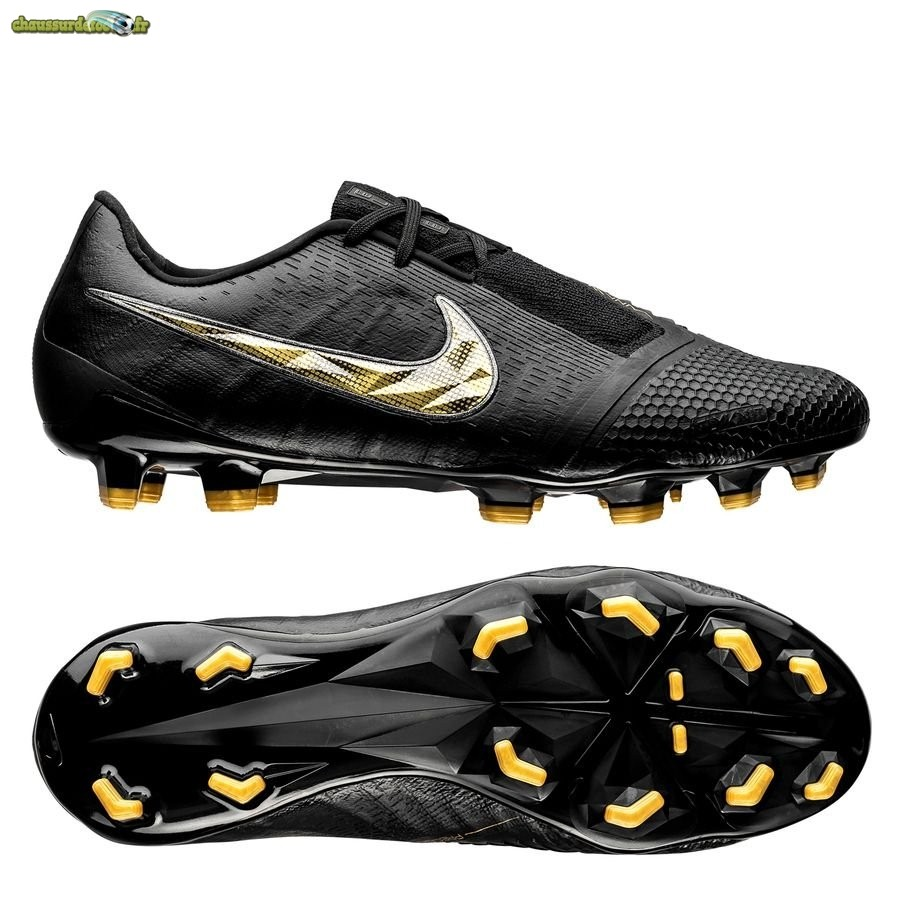 Chaussure Nike Phantom Venom Elite FG Black Lux Noir Or