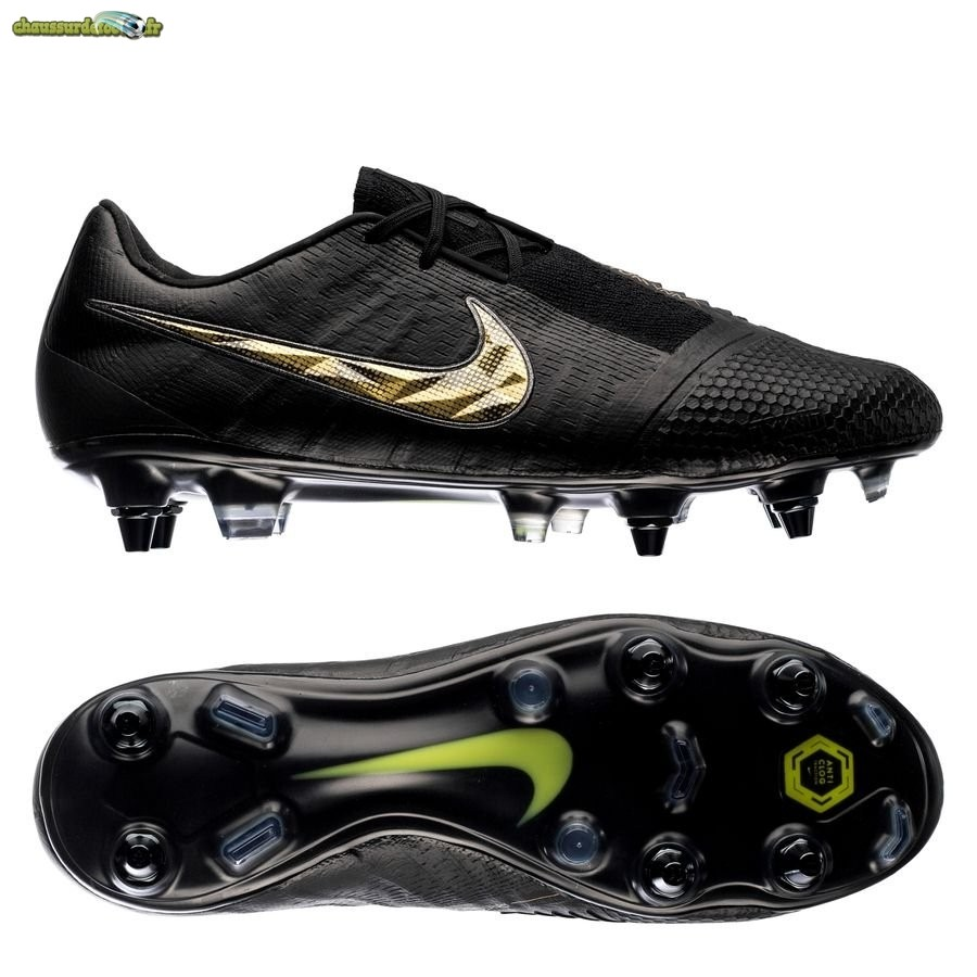 Chaussure Nike Phantom Venom Elite SG PRO Black Lux Noir Or