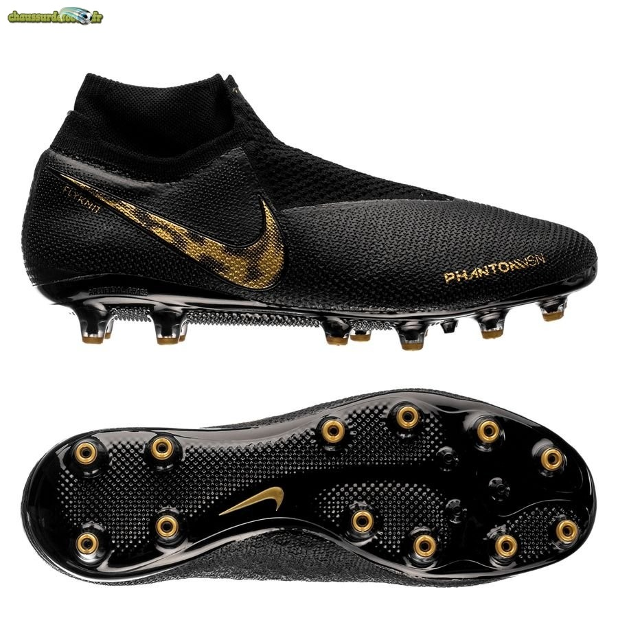 Chaussure Nike Phantom Vision Elite DF AG PRO Black Lux Noir Or