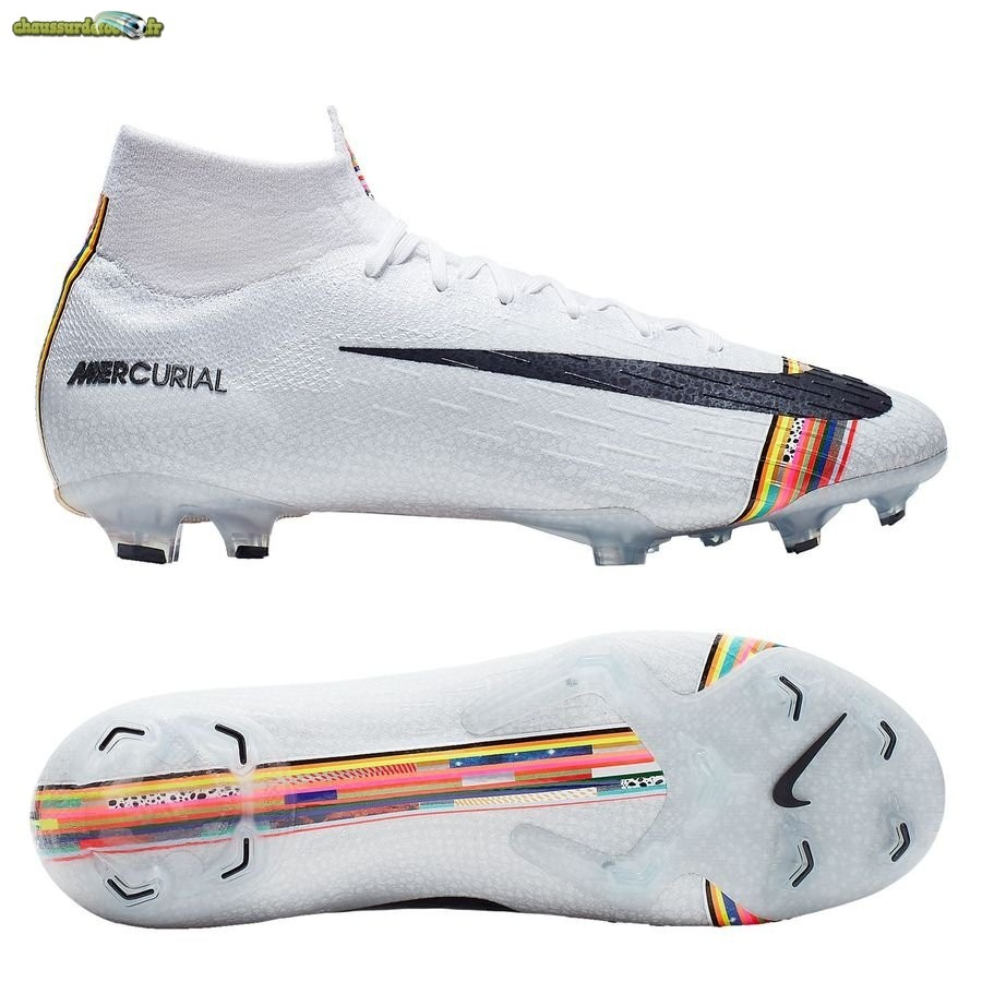 Chaussure Nike Mercurial Superfly 6 Elite FG LVL UP Blanc