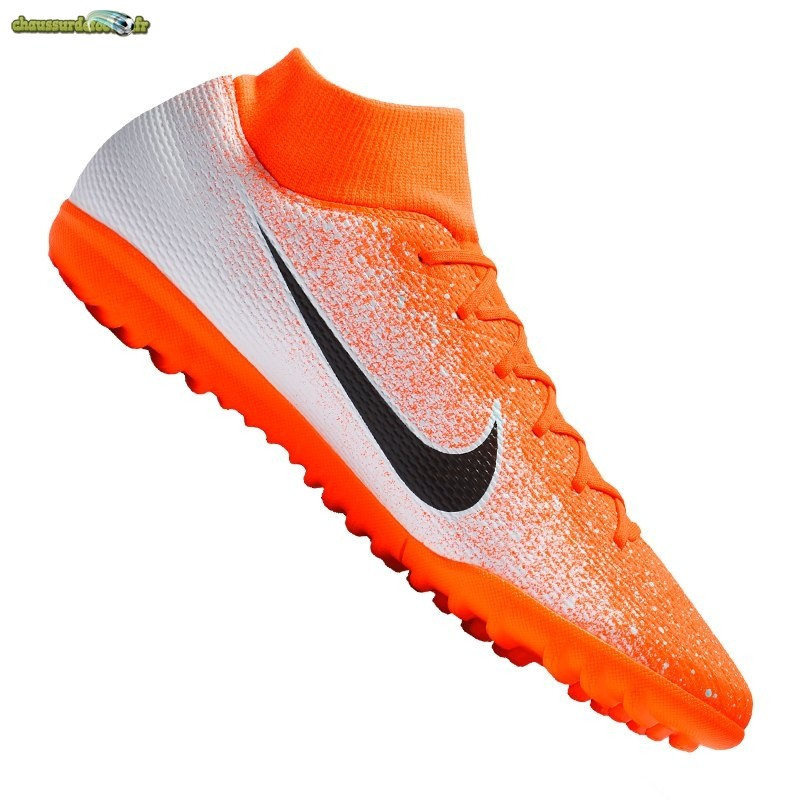 Chaussure Nike Mercurial SuperflyX VI Academy TF Orange