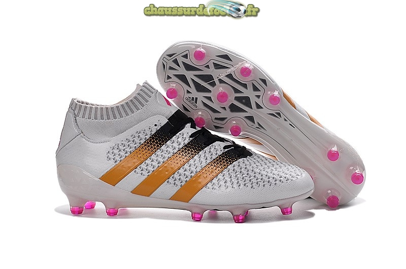 Chaussure Adidas Ace 16+ AG Blanc Rose