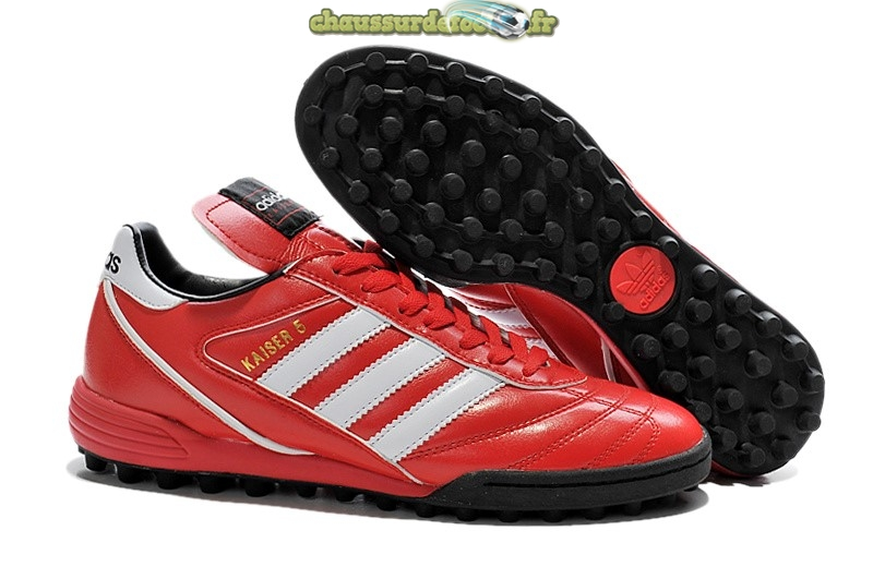 Chaussure Adidas Kaiser 5 TF Rouge Blanc