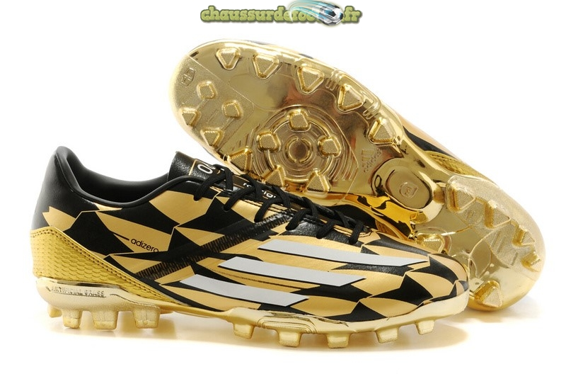 Chaussure Adidas Messi F50 AG Or Noir