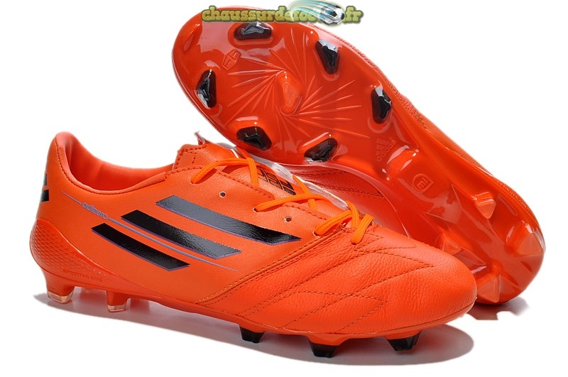 Chaussure Adidas Messi F50 FG Rouge Noir