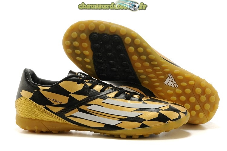 Chaussure Adidas Messi F50 TF Or Noir