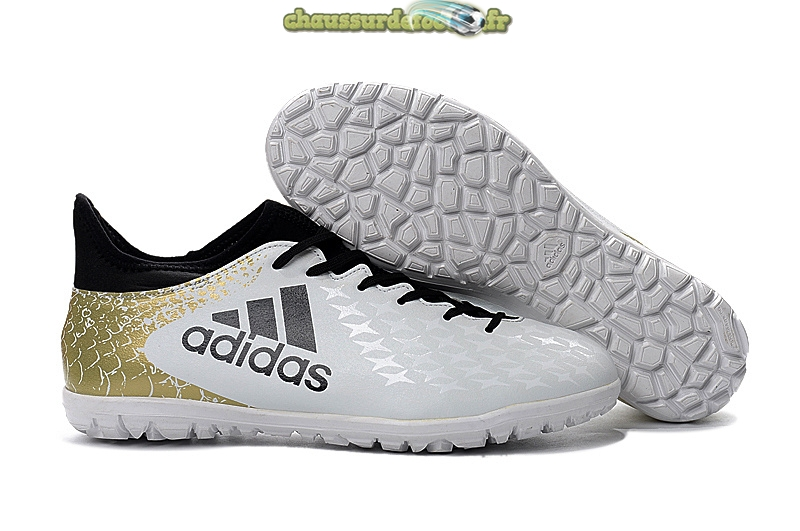 Chaussure Adidas X 16.3 Femme TF Blanc Or