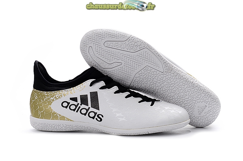 Chaussure Adidas X 16.3 INIC Blanc Or