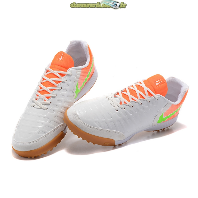 Chaussure NIke Tiempo Mystic VII TF Blanc Orange